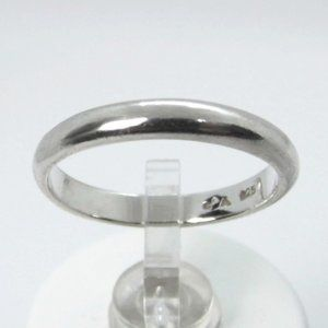 Sterling SILVER 3mm Wedding BAND Ring size 7.5